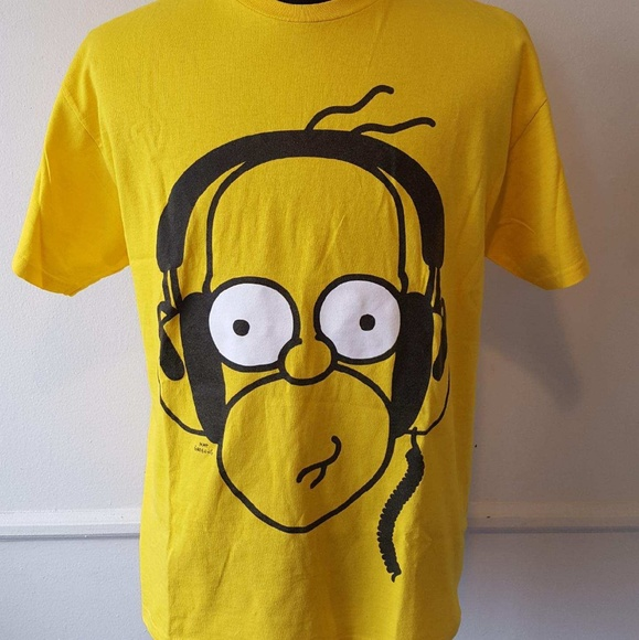 Awesome Homer Simpson Headphones Shirt Large Download Free Architecture Designs Scobabritishbridgeorg